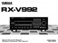 YAMAHA rxv992om Operating Manuals