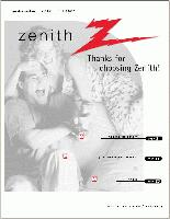 ZENITH a13p01d/h13p01lom Operating Manuals
