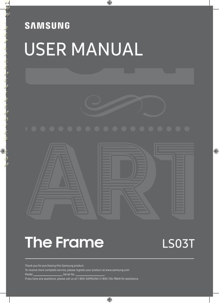 SAMSUNG LS03T Series Operating Manual
