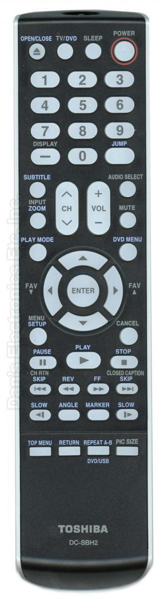 TOSHIBA DCSBH2 Remote Control