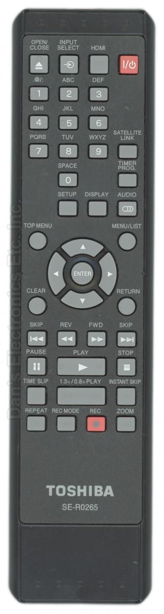 TOSHIBA SER0265 Digital Video Recorder (DVR) Remote Control