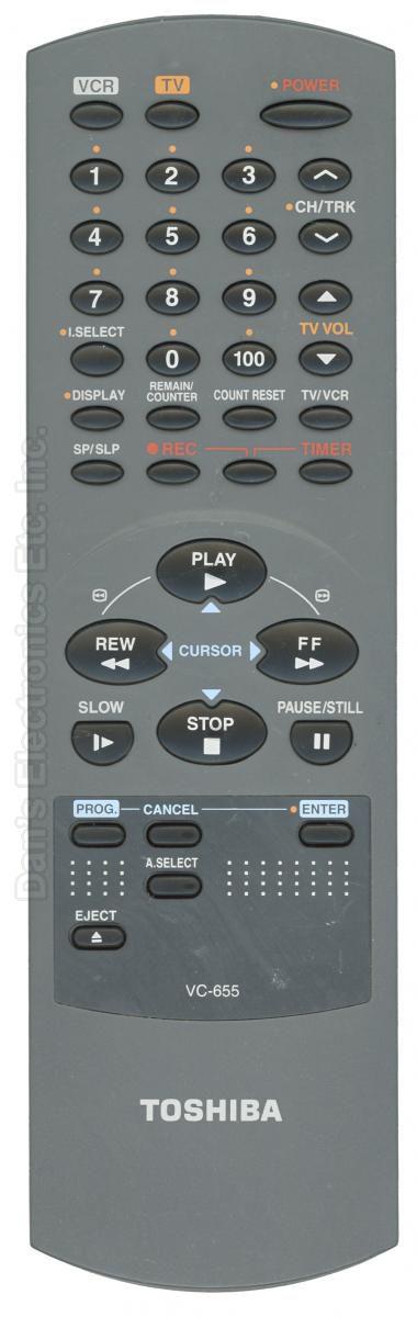 TOSHIBA VC655 VCR Remote Control