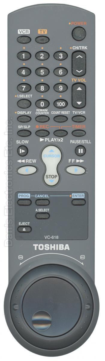 TOSHIBA VC618 VCR Remote Control