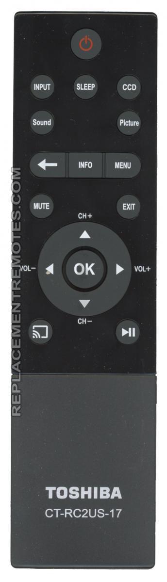 TOSHIBA CTRC2US17 Remote Control