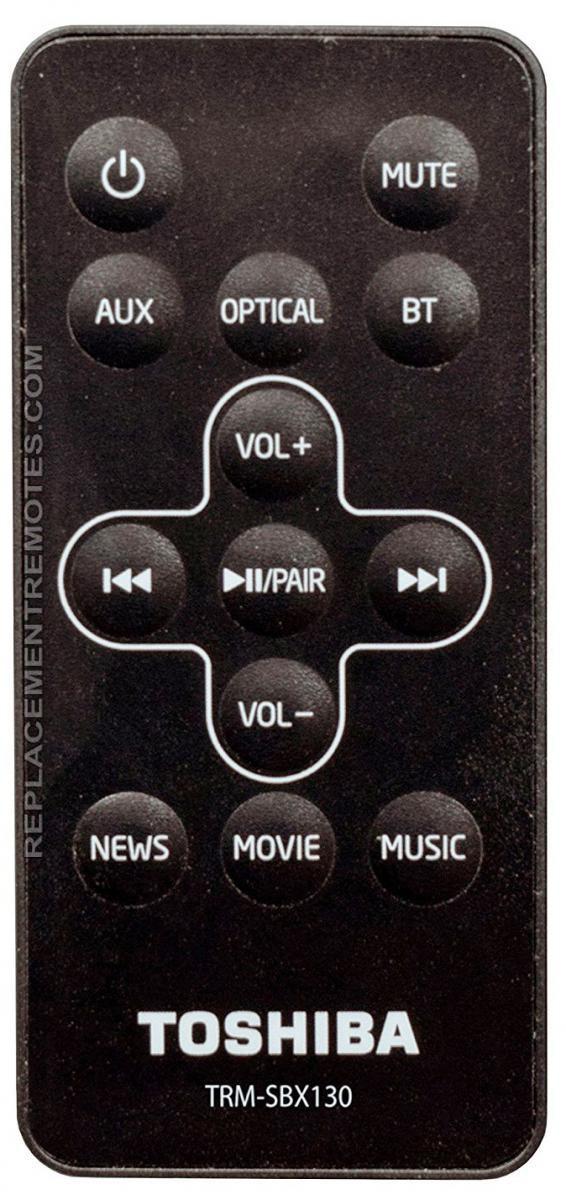 TOSHIBA TRMSBX130 Sound Bar System Remote Control