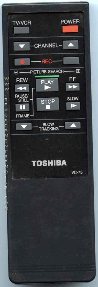 TOSHIBA VC75 Remote Control