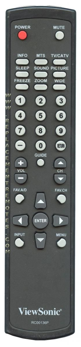Viewsonic RC00136P TV Remote Control