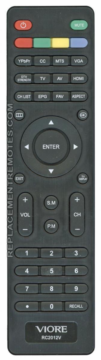 VIORE RC2012V TV Remote Control