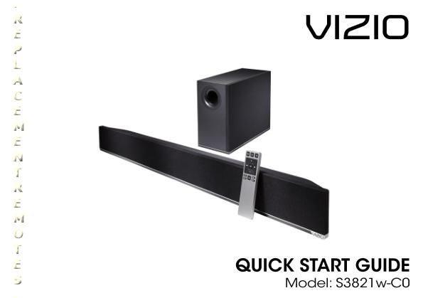 VIZIO XRS321OM Operating Manual