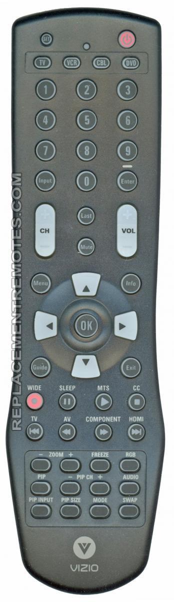 VIZIO VUR6 5-Device Universal Remote Control
