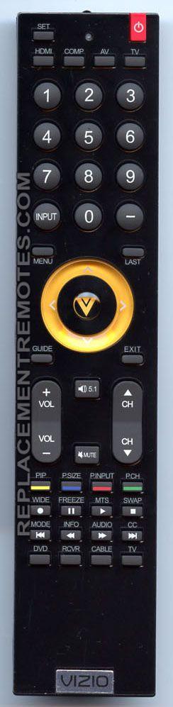 VIZIO VUR9 TV Remote Control