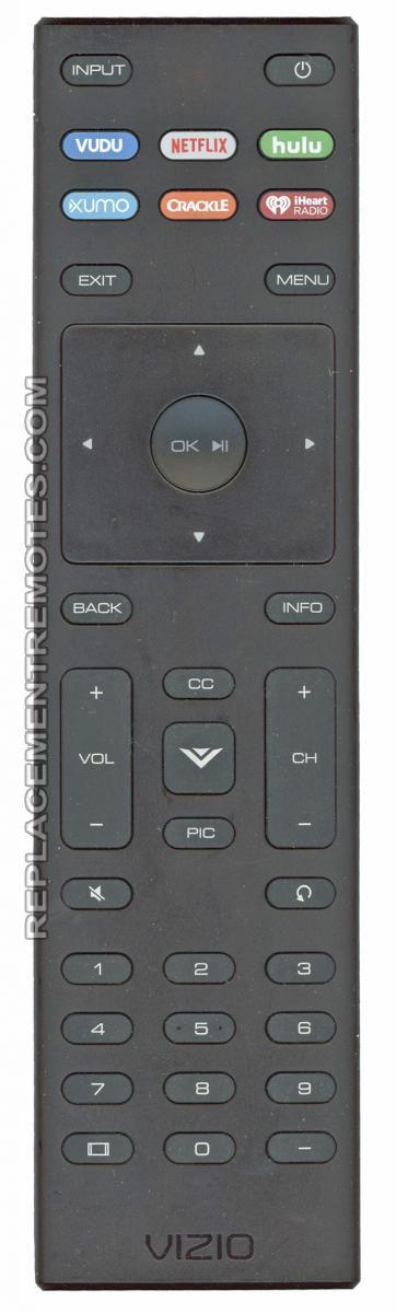 VIZIO XRT136 W/Hulu TV Remote Control