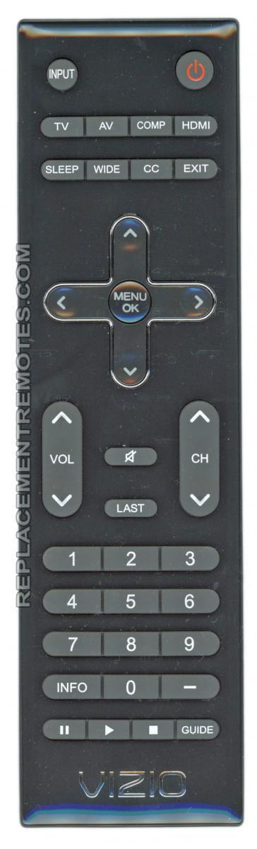 VIZIO VR10 TV Remote Control