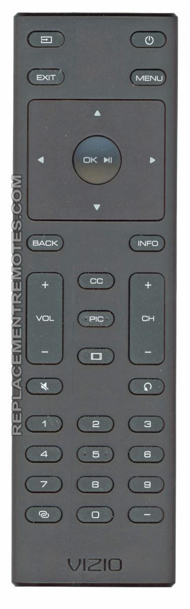 VIZIO XRT135 TV Remote Control