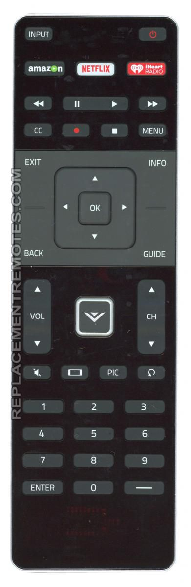 VIZIO XRT500 TV Remote Control