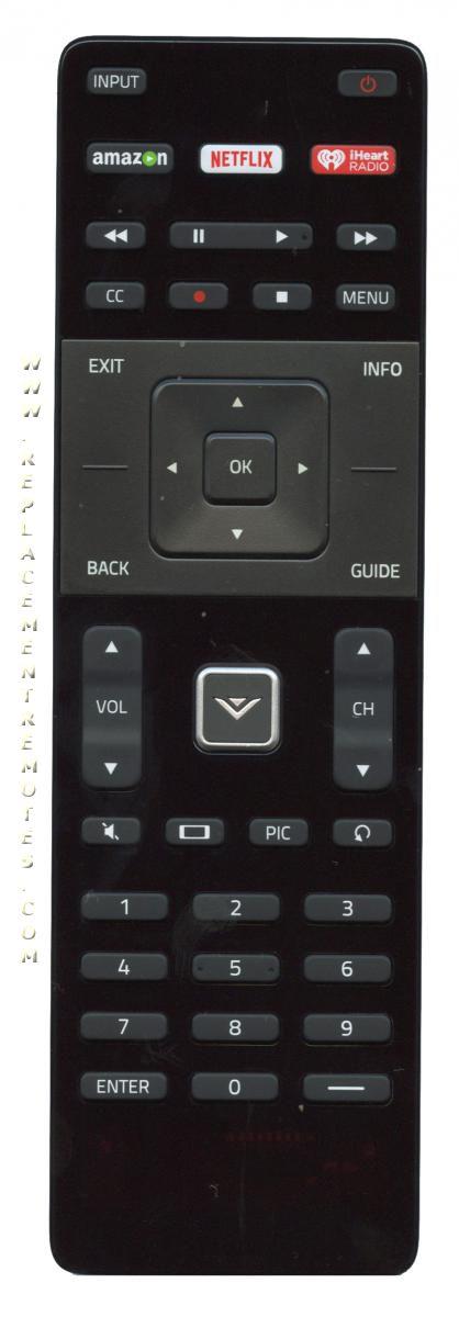 VIZIO XRT122 TV Remote Control
