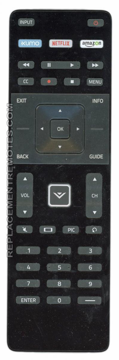 VIZIO XRT122v3 TV Remote Control