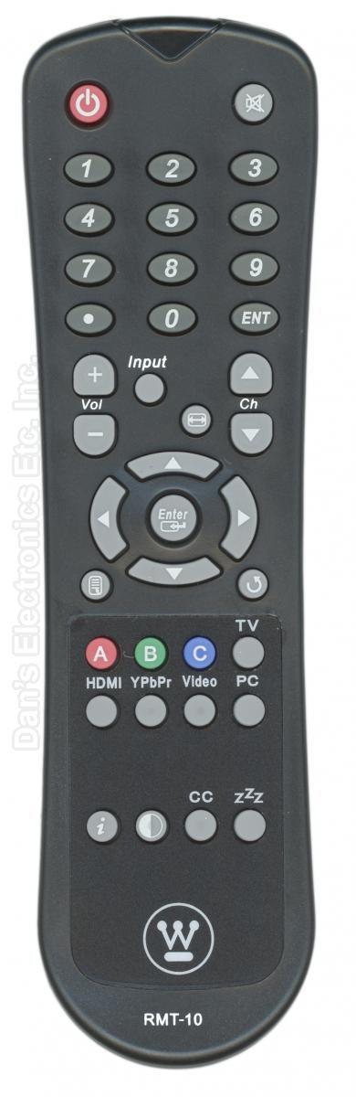 Westinghouse RMT10 TV Remote Control