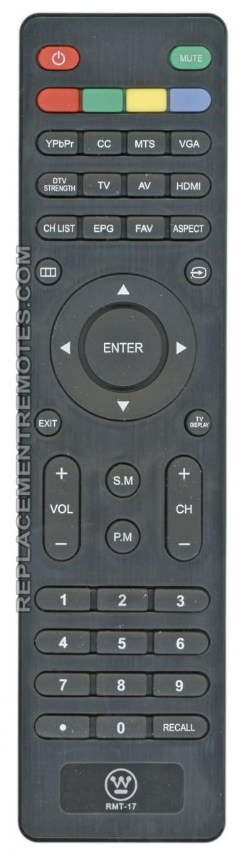 Westinghouse RMT17 TV Remote Control