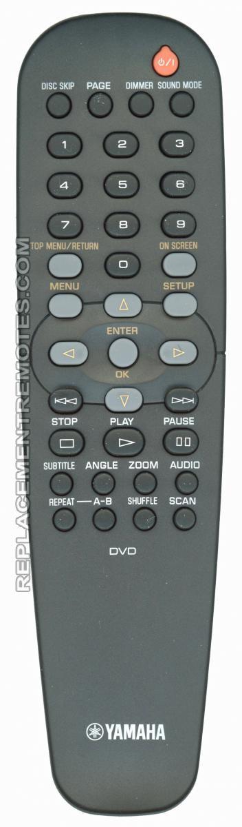 YAMAHA RC19237010/00 DVD Player Remote Control