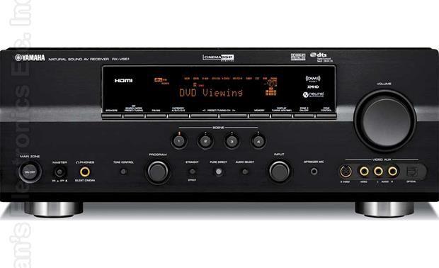 YAMAHA RXV661BL Audio/Video Receiver Audio/Video Receiver