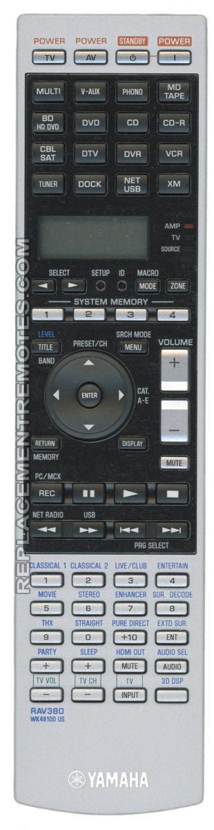 Buy Yamaha Rav380 Wk481001 Remote Control