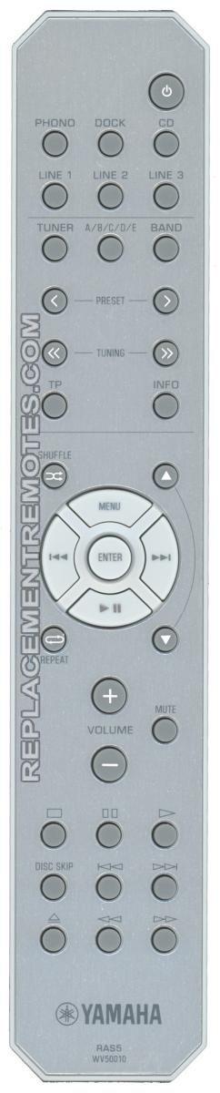 YAMAHA RAS5 Audio System Remote Control