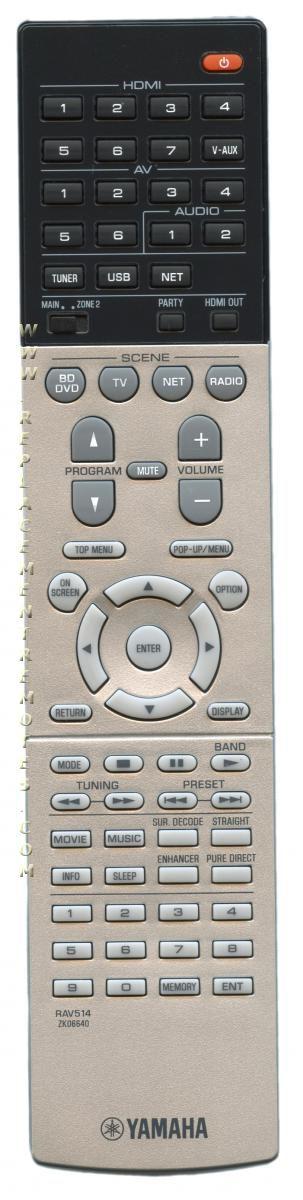 YAMAHA RAV514 Audio/Video Receiver Remote Control