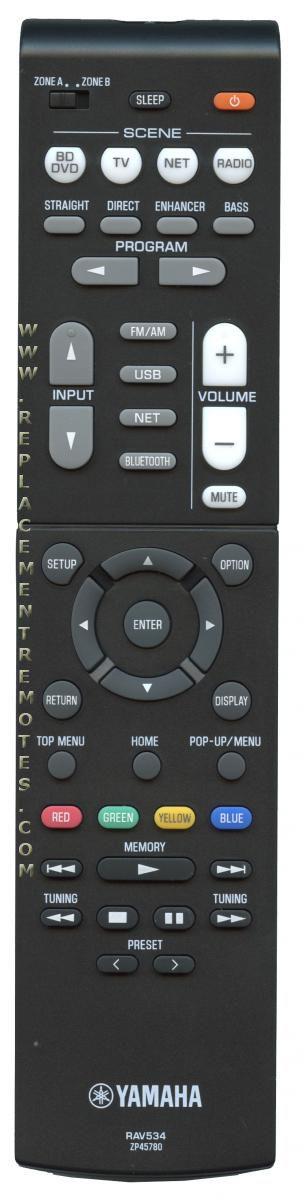 YAMAHA RAV534 Audio/Video Receiver Remote Control