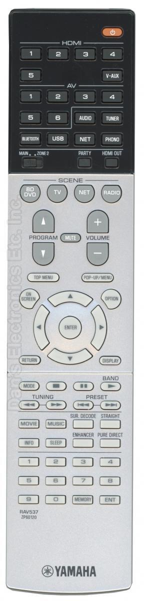 YAMAHA RAV537 Audio/Video Receiver Remote Control