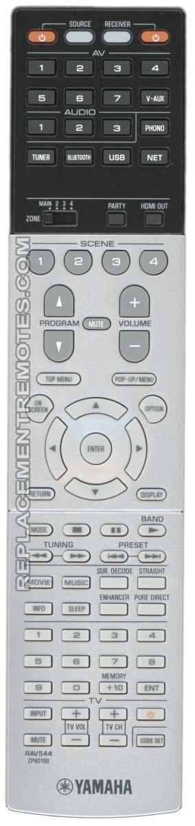 YAMAHA RAV544 Audio/Video Receiver Remote Control