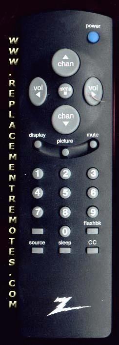ZENITH R25Z11 TV Remote Control