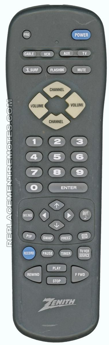 ZENITH MBR3447T Remote Control